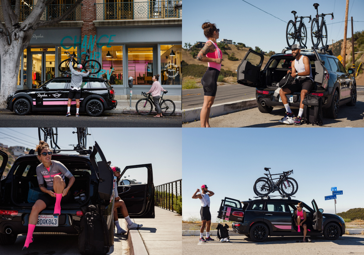 The new partnership between the two premium lifestyle British brands connects both MINI and the cycling apparel brand Rapha by offering a number of unique elements to both MINI and Rapha customers in the USA.