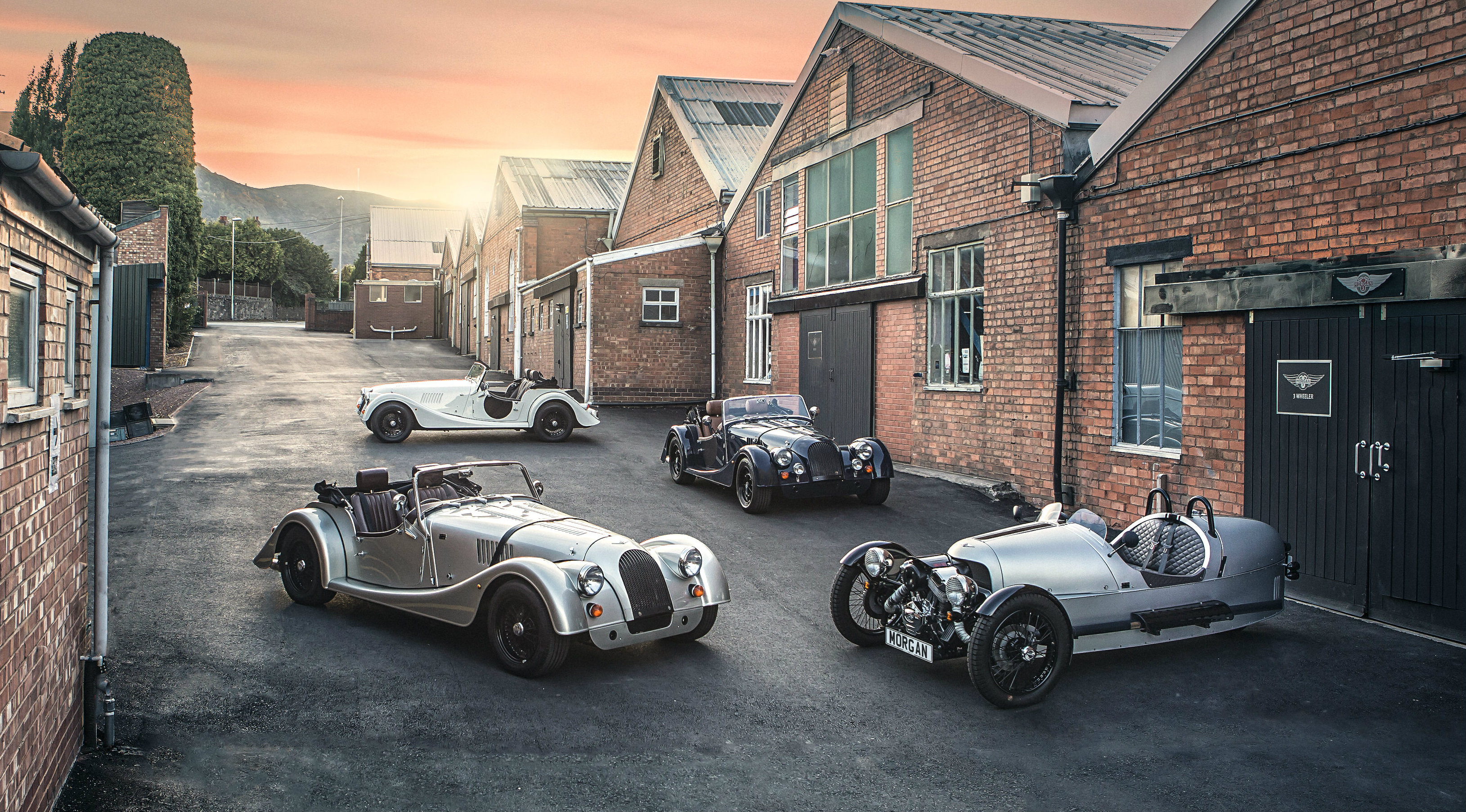 Morgan Motor Company introduces a range of '110 Anniversary' models ahead of the privately owned manufacturer's 110th anniversary in 2019, with each '110 Anniversary' model carrying unique celebratory badging to signify its importance as a '110' edition vehicle.
