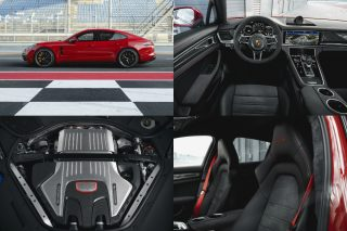 The Panamera GTS and Panamera GTS Sport Turismo offer a powerful performance from the 4-litre V8 biturbo engine, extra dynamic chassis systems including three-chamber air suspension, and their own unique design elements and equipment.