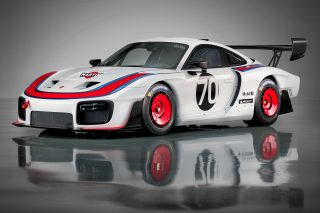 The 700-horsepower clubsport racecar is based on the street-legal 911 GT2 RS, features a body reminiscent of the legendary Porsche 935/78 and will be produced in a limited number of 77 units.