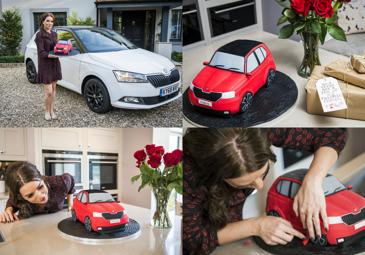 Skoda teamed up with 2016 Great British Bake Off winner and professional baker Candice Brown to launch miniature version of the iconic Fabia Cake, with the mouth-watering bake paying homage to the iconic advert and celebrating the launch of the newly facelifted Fabia supermini.