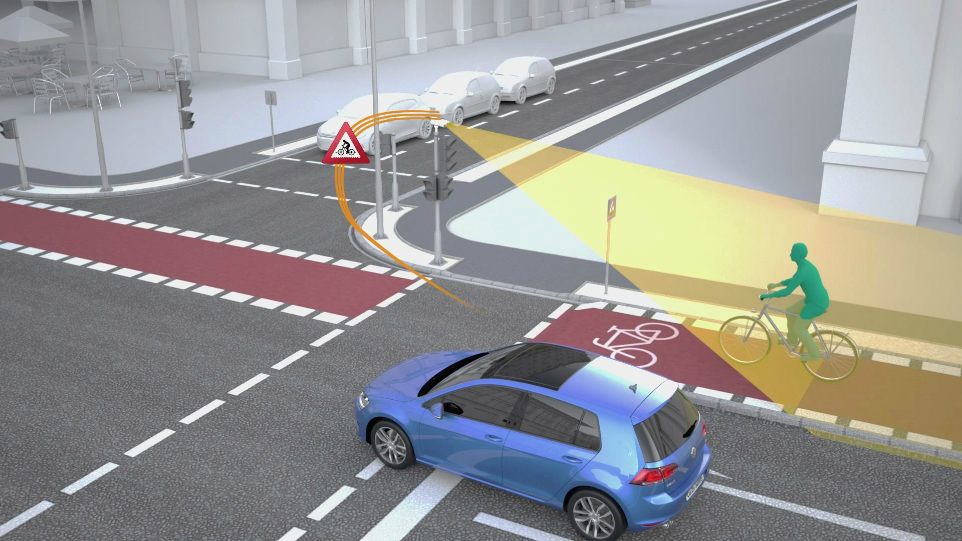 The two German companies have developed new functions for the local exchange of information between vehicles and digital transport infrastructure such as traffic lights, thereby improving safety for all road users.