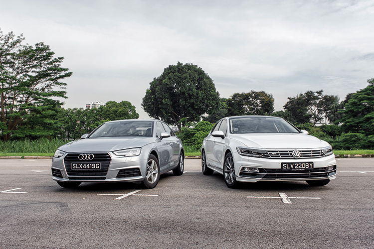 Audi A Takes On The Volkswagen Passat In This Executive Saloon Shootout - Volkswagen audi
