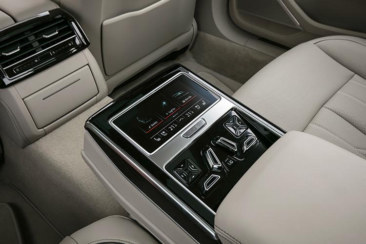 audi a8 backseat console