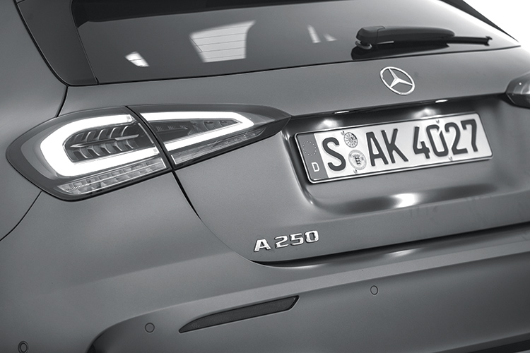 mercedes-benz a-class a250 badge