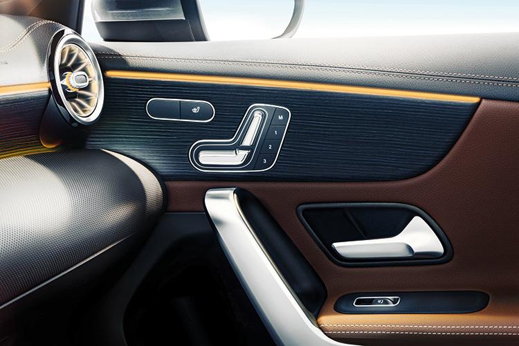 mercedes-benz a-class seat controls