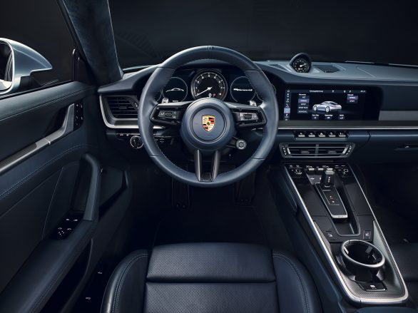 New Porsche 911 centre console and driver's display