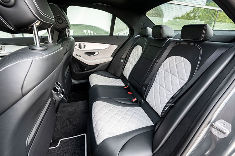 mercedes-benz c200 backseat