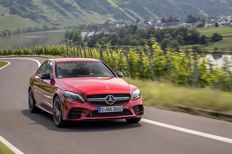 mercedes-amg c43 driving