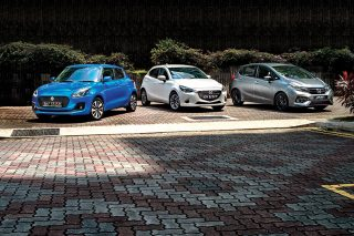 suzuki swift mazda 2 and honda jazz front