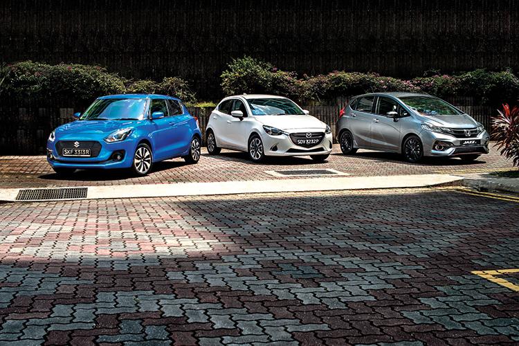 Suzuki Swift versus Mazda 2 and Honda Jazz | Torque