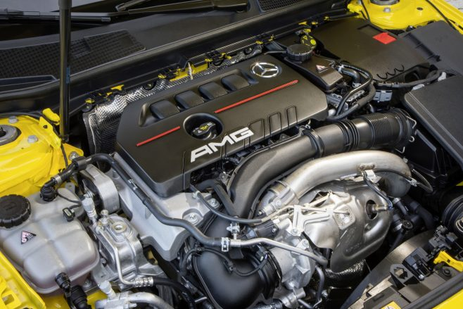 New Mercedes Benz A35 engine