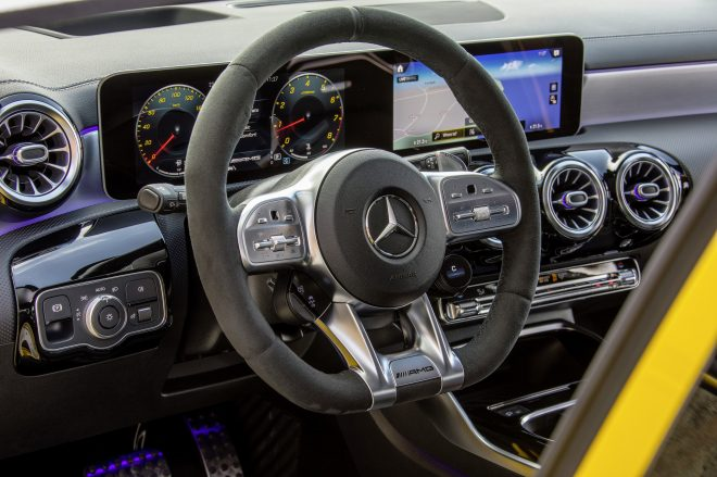 Mercedes Benz A35 interior