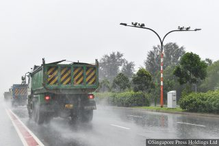 average speed cameras on tanah merah coast road