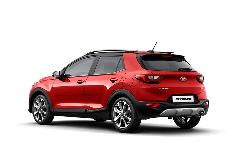 kia stonic red rear