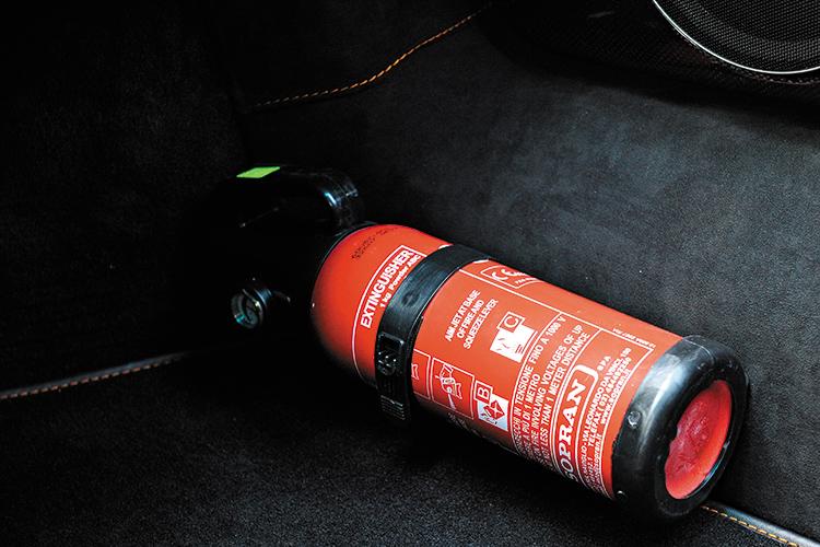 lamborghini murcielago sv fire extinguisher