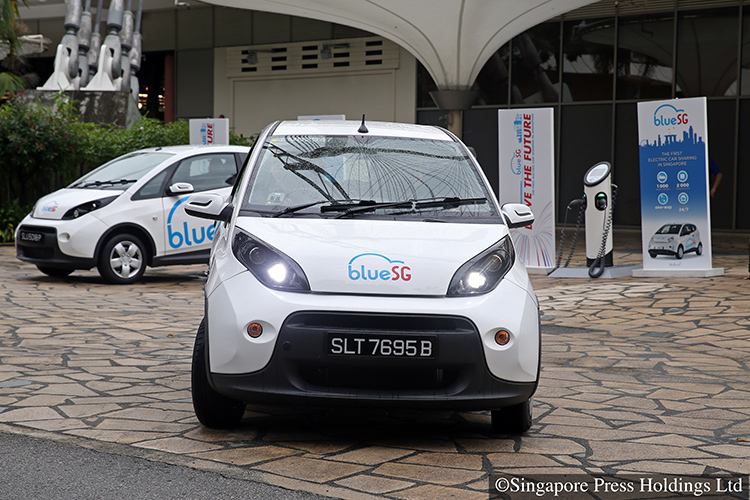 more charging stations for electric cars in singapore next year
