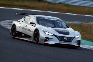 nissan leaf nismo rc front driving