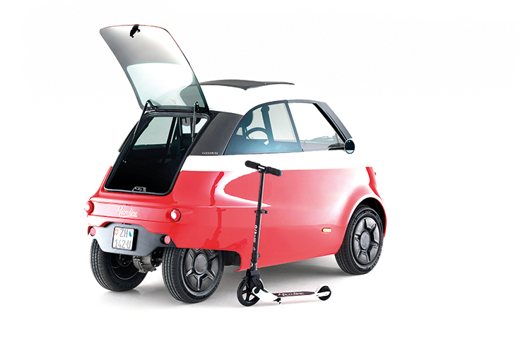 microlino with electric scooter