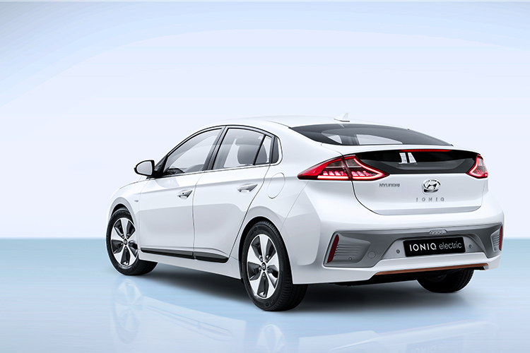 hyundai ioniq electric rear