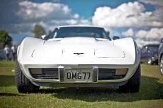 front number plate chevrolet corvette