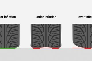 Tyre overinflation