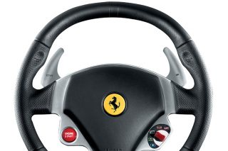 paddle shifters on a ferrari steering wheel