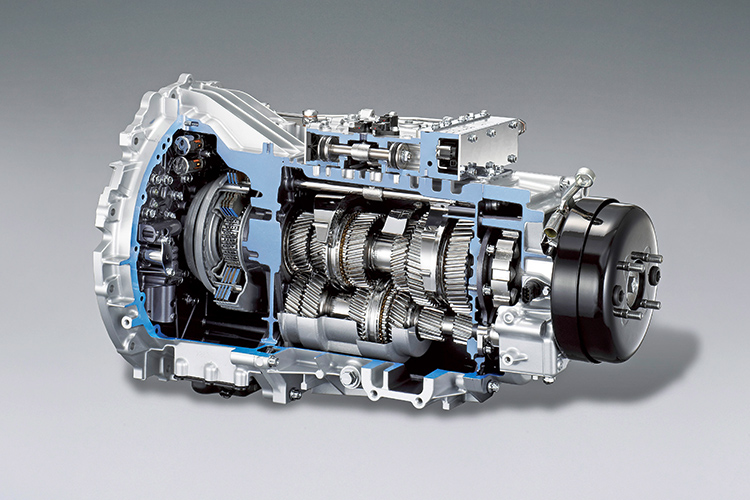 mechatronics in a dual-clutch gearbox