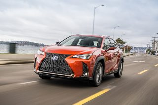 lexus ux hybrid driving