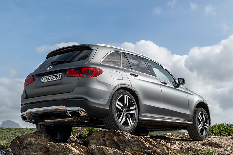 mercedes-benz glc static rear