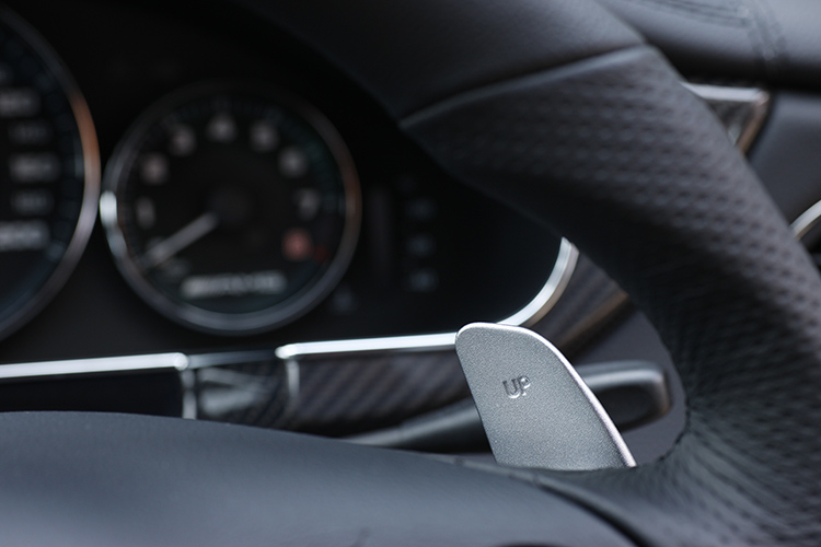 paddle shifter on a mercedes-amg cls63