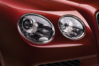 headlights on a Bentley Flying Spur