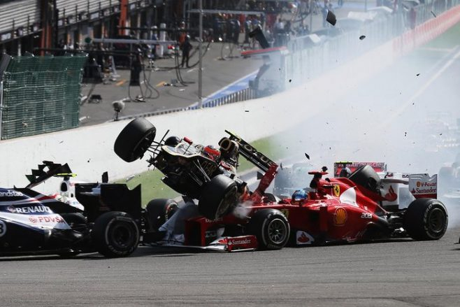 motor racing crash
