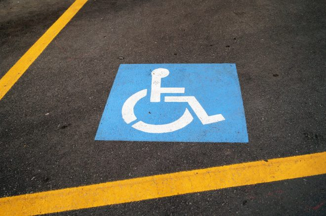 disabled parking lots
