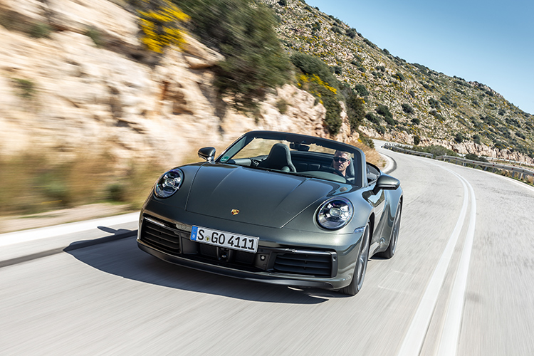 911 carrera s cabriolet driving front