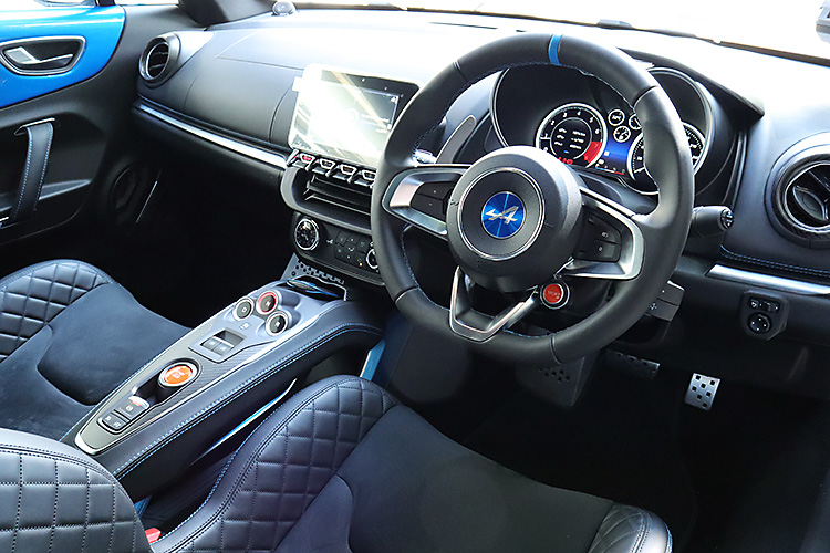 alpine a110 interior cockpit