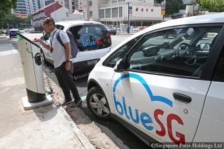 charging electric car singapore