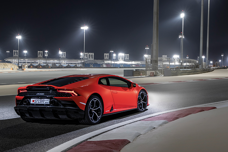 huracan evo rear static