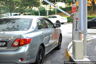 parking in singapore carpark gantry