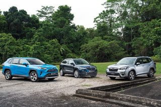 rav4, karoq and forester