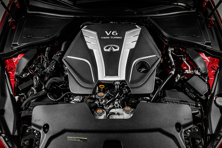 turbocharged car engine infiniti