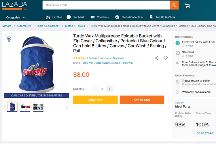 car care products folding bucket