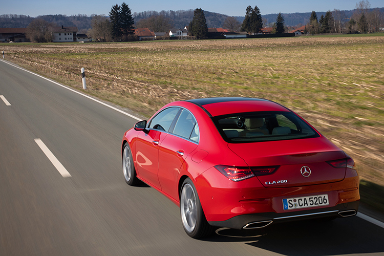 cla200 driving rear