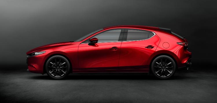 new mazda 3 hatchback profile