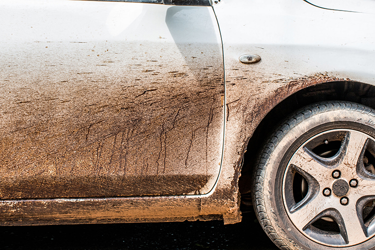 are pre wash cleaners helpful mud on car