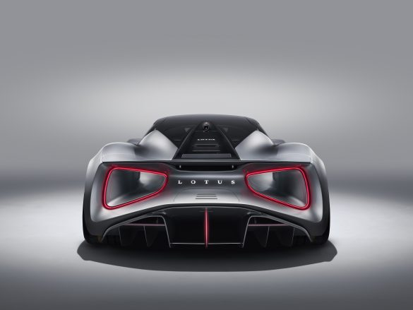 The rear of the new Lotus