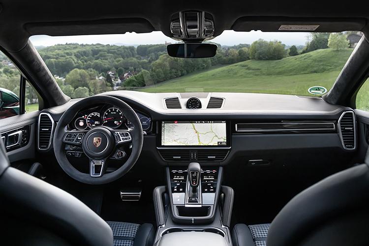 porsche cayenne turbo coupe cockpit