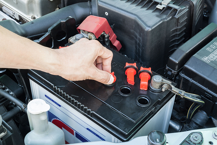 maintain car battery check water level