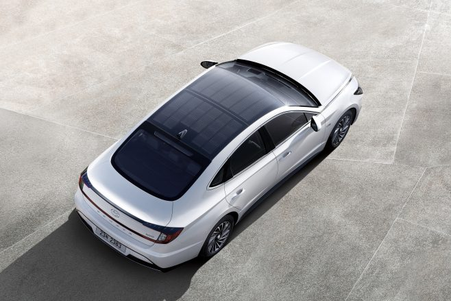 Hyundai Sonata solar panel