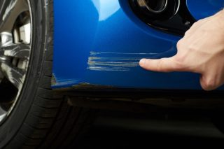 car paint chips and scratches bumper